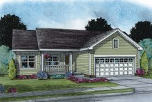 Ranch Exterior - Front Elevation Plan #20-2270