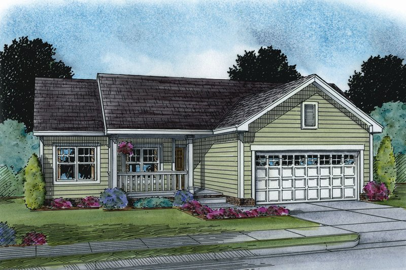 Dream House Plan - Ranch Exterior - Front Elevation Plan #20-2270