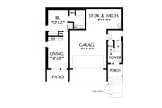 Contemporary Style House Plan - 4 Beds 3.5 Baths 2874 Sq/Ft Plan #48-1019 Floor Plan - Lower Floor