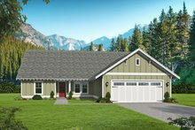 Architectural House Design - Cottage Exterior - Front Elevation Plan #932-326