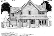 Modern Style House Plan - 3 Beds 2.5 Baths 2233 Sq/Ft Plan #312-876 Exterior - Rear Elevation