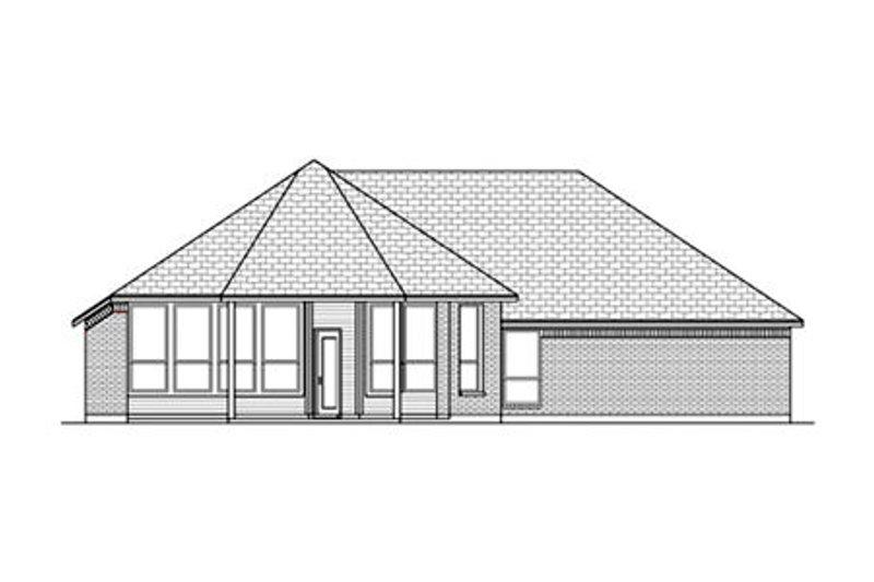 Bungalow Exterior - Rear Elevation Plan #84-477 - Houseplans.com