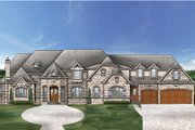 European Style House Plan - 4 Beds 3.5 Baths 4770 Sq/Ft Plan #119-429 Exterior - Front Elevation