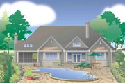 European Style House Plan - 4 Beds 3.5 Baths 2689 Sq/Ft Plan #929-31 Exterior - Rear Elevation