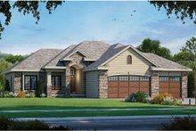 Dream House Plan - European Exterior - Front Elevation Plan #20-2121