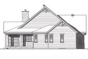 Traditional Style House Plan - 3 Beds 3 Baths 2398 Sq/Ft Plan #23-2303 Exterior - Rear Elevation