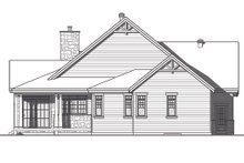 House Plan Design - Traditional Exterior - Rear Elevation Plan #23-2303