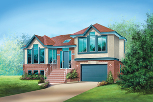 Contemporary Exterior - Front Elevation Plan #25-4531
