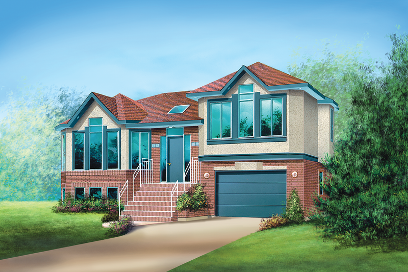 Contemporary Style House Plan - 2 Beds 1 Baths 1193 Sq/Ft Plan #25-4531 Exterior - Front Elevation