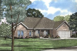 Traditional Exterior - Front Elevation Plan #17-154