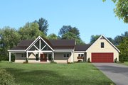 Country Style House Plan - 2 Beds 2 Baths 2137 Sq/Ft Plan #932-77 Exterior - Front Elevation