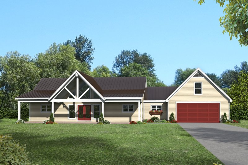 Home Plan - Country Exterior - Front Elevation Plan #932-77