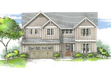 House Plan Design - Craftsman Exterior - Front Elevation Plan #53-535