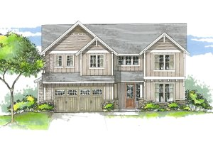 Architectural House Design - Craftsman Exterior - Front Elevation Plan #53-535