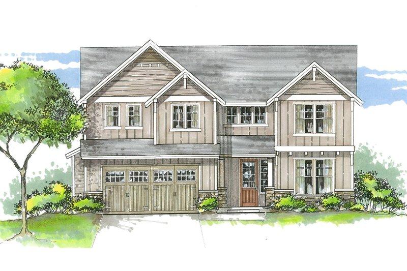 Dream House Plan - Craftsman Exterior - Front Elevation Plan #53-535
