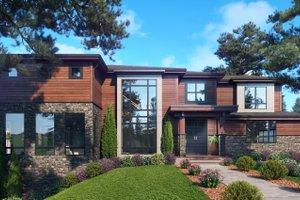 Contemporary Exterior - Front Elevation Plan #1066-118
