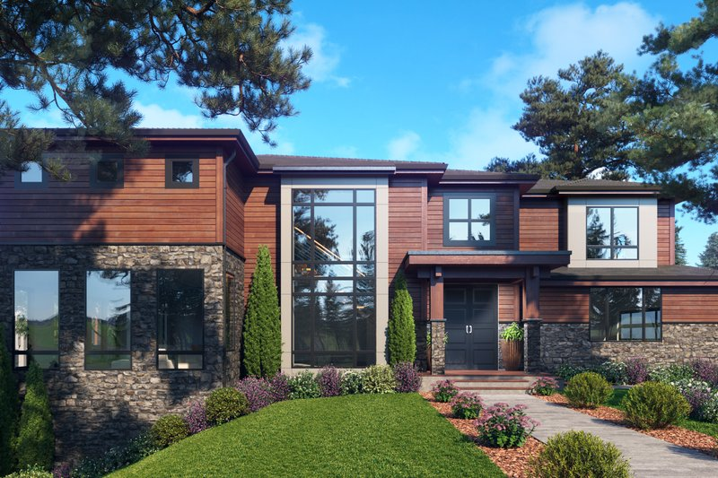 Architectural House Design - Contemporary Exterior - Front Elevation Plan #1066-118