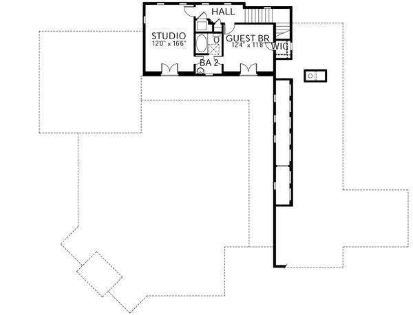 Mediterranean Floor Plan - Upper Floor Plan Plan #80-154