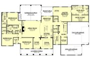 Country Style House Plan - 4 Beds 3.5 Baths 3194 Sq/Ft Plan #430-135 Floor Plan - Main Floor Plan