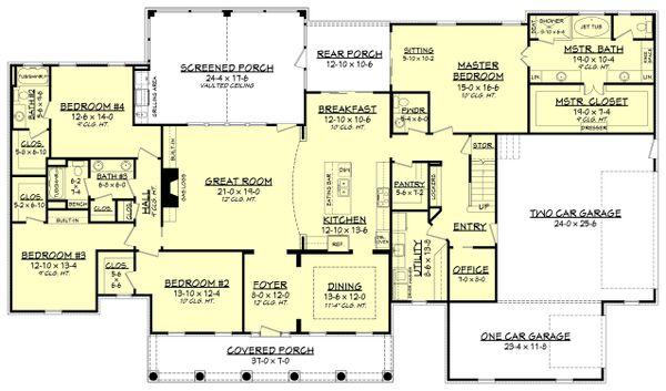 House Plan Design - Country Floor Plan - Main Floor Plan #430-135