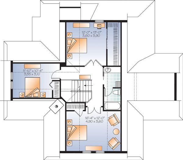 Contemporary Floor Plan - Upper Floor Plan Plan #23-2317