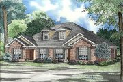Traditional Style House Plan - 2 Beds 2 Baths 1055 Sq/Ft Plan #17-1049 Exterior - Front Elevation