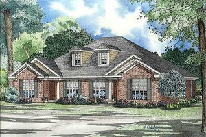 Traditional Exterior - Front Elevation Plan #17-1049
