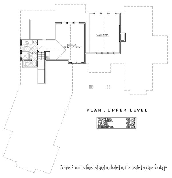 Craftsman Floor Plan - Upper Floor Plan Plan #892-29
