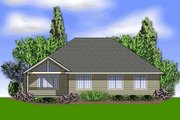 Craftsman Style House Plan - 3 Beds 2 Baths 2000 Sq/Ft Plan #48-241 Exterior - Rear Elevation