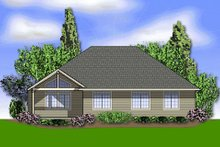 House Plan Design - Craftsman Exterior - Rear Elevation Plan #48-241