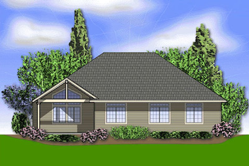 Craftsman Exterior - Rear Elevation Plan #48-241 - Houseplans.com