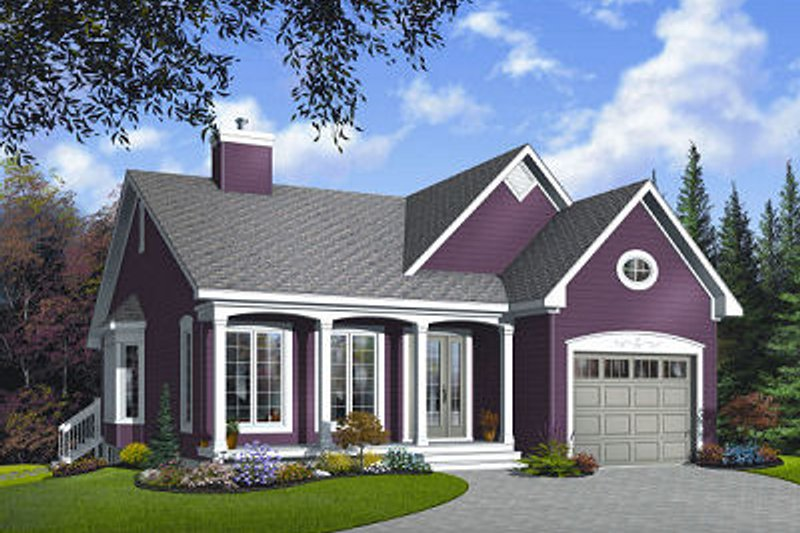 Country Exterior - Front Elevation Plan #23-785