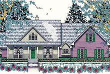 Southern Exterior - Front Elevation Plan #42-395