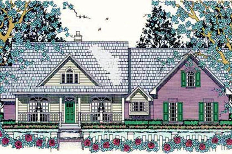 Southern Exterior - Front Elevation Plan #42-395 - Houseplans.com