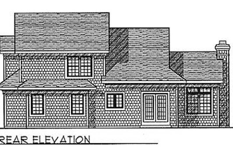 Traditional Exterior - Rear Elevation Plan #70-228 - Houseplans.com