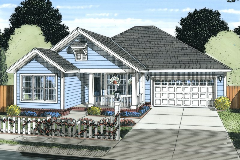 Home Plan - Traditional Exterior - Front Elevation Plan #513-2080