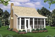 Cottage Style House Plan - 1 Beds 1 Baths 400 Sq/Ft Plan #21-204 Exterior - Rear Elevation