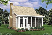 Dream House Plan - Cottage Exterior - Rear Elevation Plan #21-204