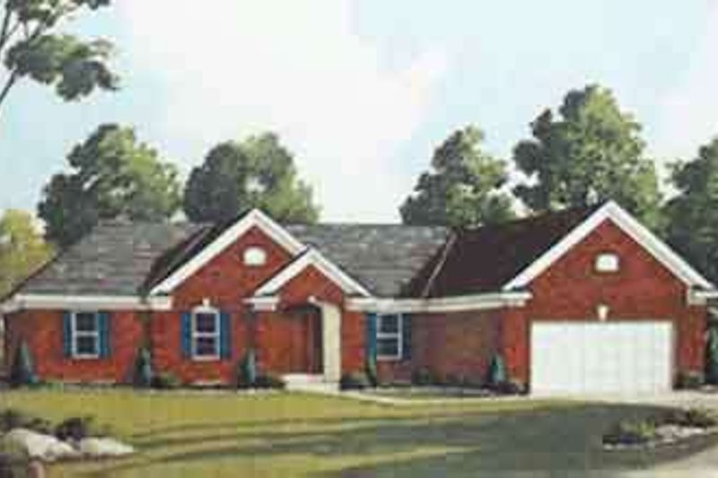 European Exterior - Front Elevation Plan #46-129