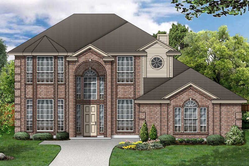 Traditional Exterior - Front Elevation Plan #84-382 - Houseplans.com