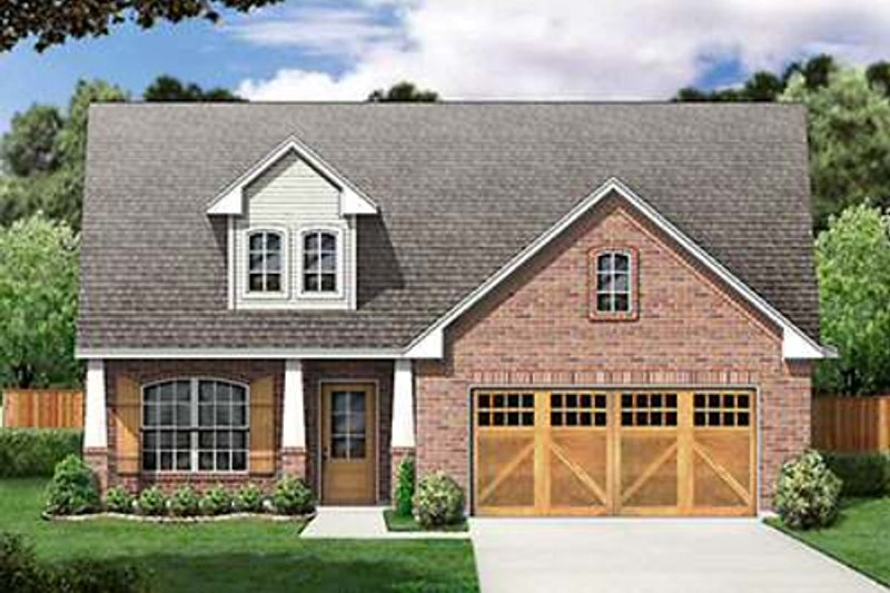 Craftsman Style House Plan - 3 Beds 2 Baths 1655 Sq/Ft Plan #84-264 Exterior - Front Elevation
