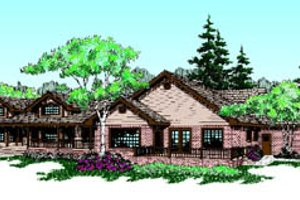 Country Exterior - Front Elevation Plan #60-189