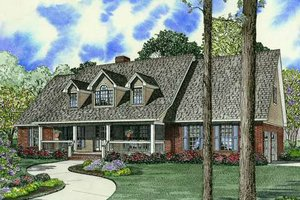 Country Exterior - Front Elevation Plan #17-1161