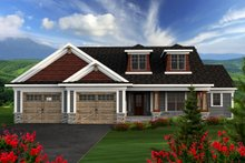 Home Plan - Ranch Exterior - Front Elevation Plan #70-1164