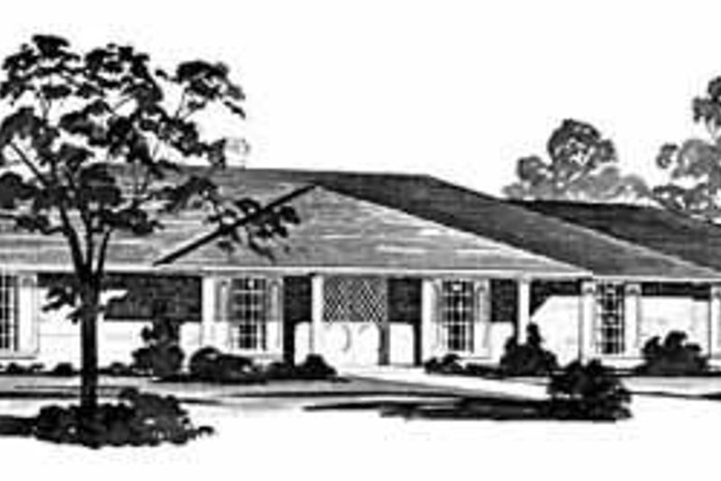 Traditional Exterior - Front Elevation Plan #36-396 - Houseplans.com