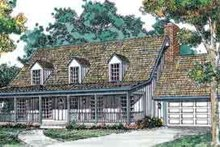 Country Exterior - Front Elevation Plan #72-448