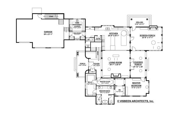 Farmhouse Floor Plan - Main Floor Plan Plan #928-10