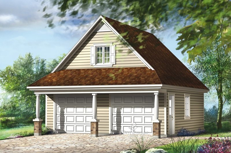 Traditional Exterior - Front Elevation Plan #25-4872