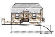 Craftsman Style House Plan - 1 Beds 1 Baths 642 Sq/Ft Plan #487-3 Exterior - Rear Elevation