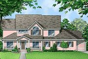 Traditional Style House Plan - 4 Beds 2.5 Baths 2888 Sq/Ft Plan #67-550 Exterior - Front Elevation